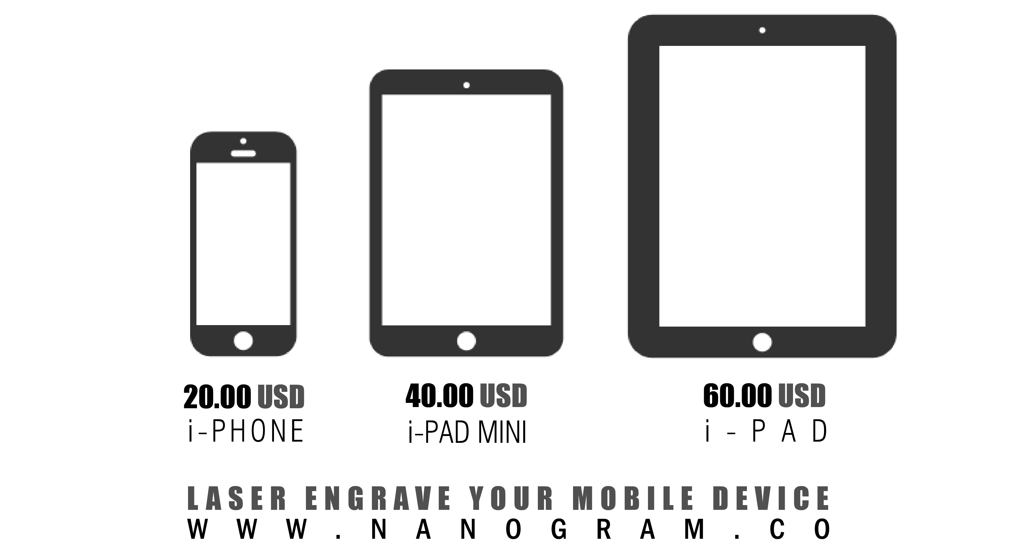 laser engrave your mobile devices   nanogram